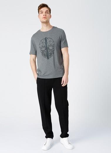 NetWork Network Bisiklet Yaka Slim Fit Gri Erkek T-Shirt Gri